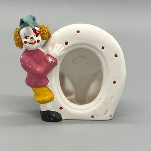 3/$20 VINTAGE collectible clown picture frame